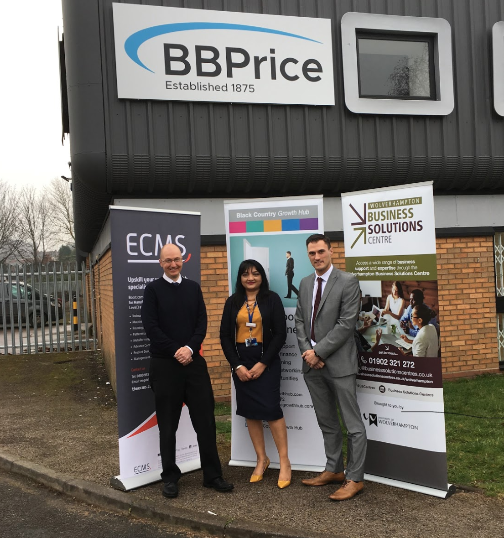 B.B. Price Limited invests in its future with help from Black Country Growth Hub